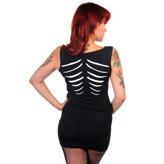 robe pour femmes (tunique) BANNED - Glow In The Dark Skeleton - Noire