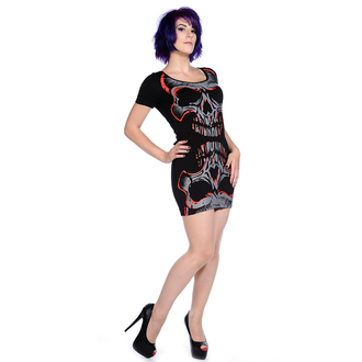 robe pour femmes (tunique) BANNED - Rouge Mirror Skull - OBN134