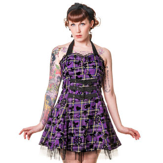 robe pour femmes BANNED - Pourpre Tartan, BANNED