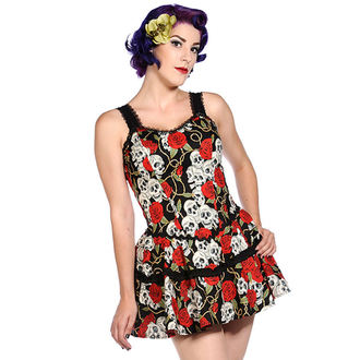 robe pour femmes BANNED - Skull Roses, BANNED