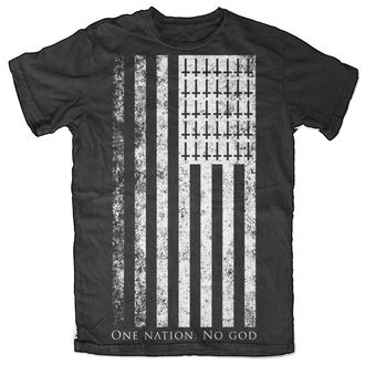t-shirt pour hommes pour femmes unisexe - One Nation. No God - BLACK CRAFT - MT024ON