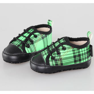 chaussures de tennis basses enfants - Black/Green - LITTLE DIAMOND - 59137-011, LITTLE DIAMOND