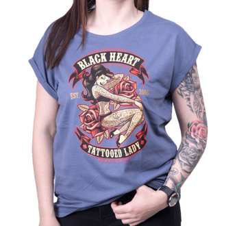 tee-shirt street pour femmes - TATTOED LADY EXT - BLACK HEART, BLACK HEART