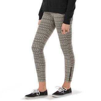 pantalon pour femmes VANS - Moto Skinny Denim - Creme, VANS