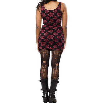 robe pour femmes SOURPUSS - Omni Roses Tank - Noire, SOURPUSS