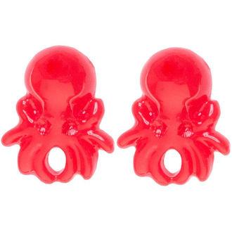 boucles d`oreilles SOURPUSS - Pieuvre - Rouge, SOURPUSS