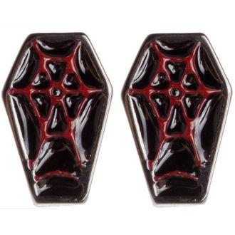 boucles d`oreilles SOURPUSS - Coffin - Noir / Rouge, SOURPUSS