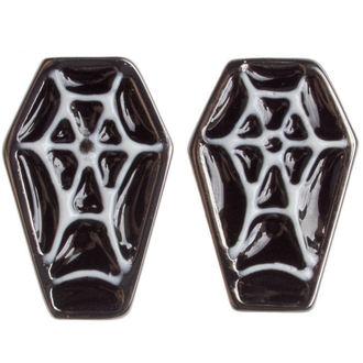 boucles d`oreilles SOURPUSS - Coffin - Noir / Blanc, SOURPUSS