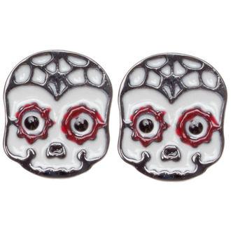 boucles d`oreilles SOURPUSS - Sugar Skull - Rouge, SOURPUSS