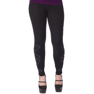 pantalon (caleçons longs) pour femmes SOURPUSS - The Bats - Noire, SOURPUSS