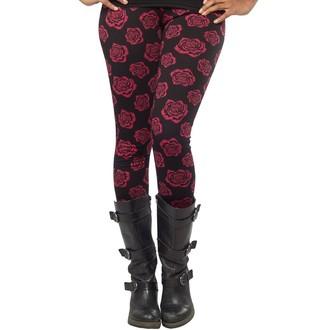 pantalon (caleçons longs) pour femmes SOURPUSS - Omni Roses - Noire, SOURPUSS