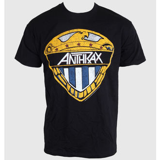 tee-shirt pour hommes Anthrax - Aigle Shield - Noire - ROCK OFF, ROCK OFF, Anthrax