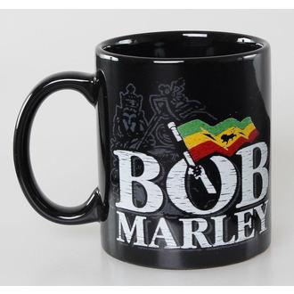 tasse Bob Marley - Distressed Logo - Noire - ROCK OFF, ROCK OFF, Bob Marley