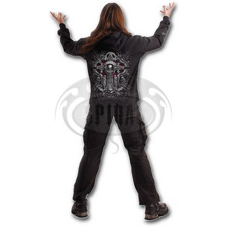 sweat-shirt avec capuche pour hommes - IN GOTH WE TRUST - SPIRAL