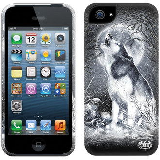 couvercle pour portable SPIRAL - BLANC WOLF - IPHONE, SPIRAL
