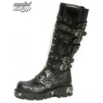 bottesen cuir - Rivet High Boots (796-S1) Black - NEW ROCK - M.796-S1