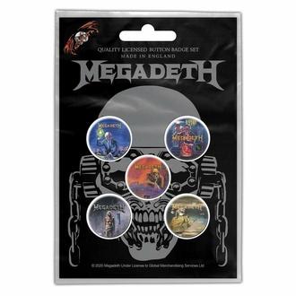 Badges MEGADETH - VIC RATTLEHEAD - RAZAMATAZ, RAZAMATAZ, Megadeth
