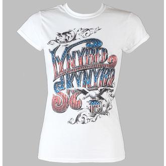 tee-shirt pour femmes Lynyrd Skynyrd - USA Drapeau Logo - LIVE NATION - Blanc, LIVE NATION, Lynyrd Skynyrd