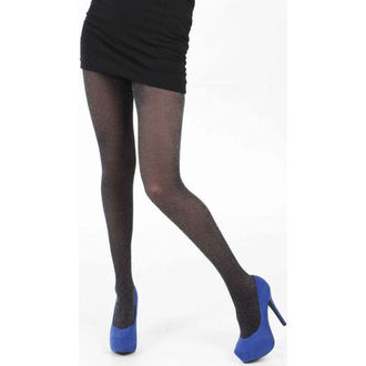 collants PAMELA MANN - Lurex Fine Net Tights - Noir / Argent, PAMELA MANN
