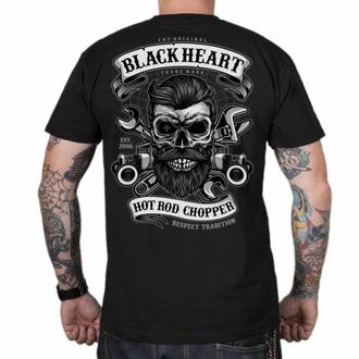 T-shirt pour homme BLACK HEART - RESPECT TRADITION - NOIR, BLACK HEART