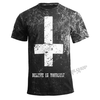 t-shirt hardcore pour hommes - BELIEVE IN YOURSELF - AMENOMEN - OMEN003KM ALLPRINT WHITE