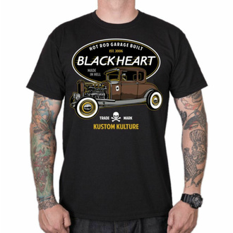 T-shirt pour homme BLACK HEART - HOT ROD TRADITIONAL - NOIR, BLACK HEART