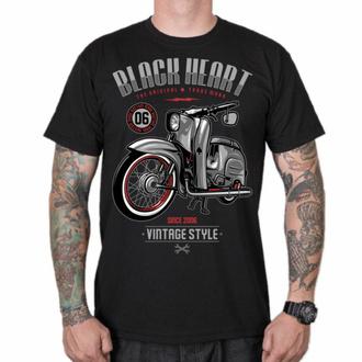 T-shirt pour homme BLACK HEART - VINTAGE STYLE - NOIR, BLACK HEART