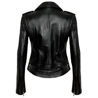 veste femme (courbée) KILLSTAR - Végétalien Motard - Noir, KILLSTAR