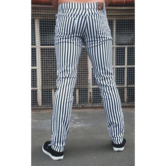 pantalon pour (unisex) 3RDAND56th - Striped Skinny - BLK / WHT, 3RDAND56th