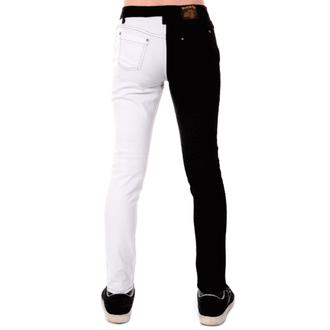 pantalon pour hommes 3RDAND56th - Split Leg Skinny - Noir / blanc, 3RDAND56th