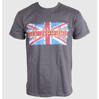 tee-shirt pour hommes Def Leppard - Union Jack - LIVE NATION, LIVE NATION, Def Leppard