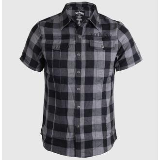 chemise pour hommes Jack Daniels - Checks - Noir / Gris, JACK DANIELS