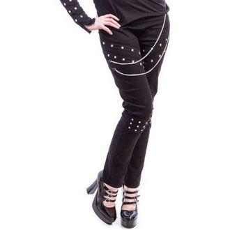 pantalon pour femmes NECESSARY EVIL - Ghotic - Noire, NECESSARY EVIL