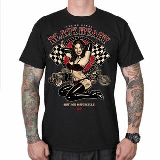 T-shirt pour homme BLACK HEART - PIN UP RACE - NOIR, BLACK HEART