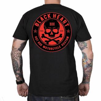 T-shirt pour homme BLACK HEART - SKULL ROUGE - NOIR, BLACK HEART