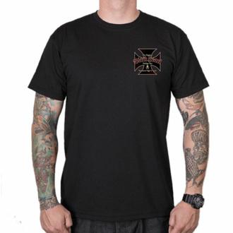 T-shirt pour homme BLACK HEART - VINTAGE IRON - NOIR, BLACK HEART