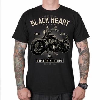 T-shirt pour homme BLACK HEART - MOTOR CYCLE - NOIR, BLACK HEART