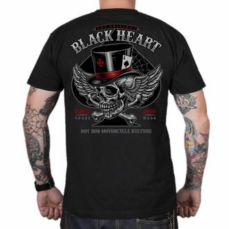 T-shirt pour homme BLACK HEART - HAT SKULL - NOIR, BLACK HEART