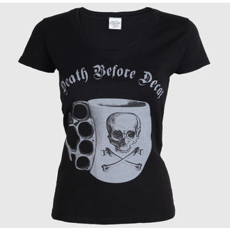 t-shirt hardcore pour femmes - Ladies Death Before Decaf - BLACK MARKET, BLACK MARKET