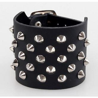 bracelet CONES 5, BLACK & METAL