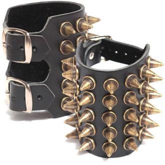 bracelet PICS 5, BLACK & METAL