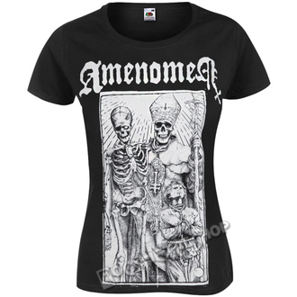 t-shirt hardcore pour femmes - POPE AND DEATH - AMENOMEN, AMENOMEN