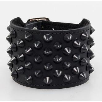 bracelet CONES 7, BLACK & METAL