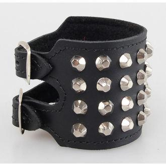 bracelet CONES 4, BLACK & METAL