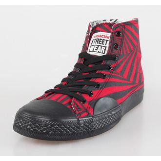 chaussures pour hommes VISION - Toiles HI - Rouge / Noir Hypno, VISION