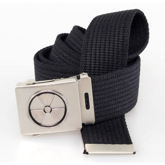 ceinture TOXIC WASTE - Noire, BLACK & METAL