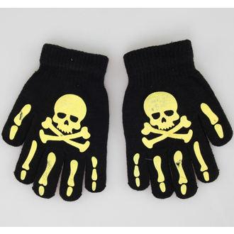 gants Skull - Noir / Jaune