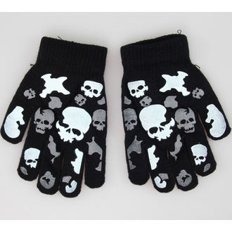 gants Skull - Noir / Blanc