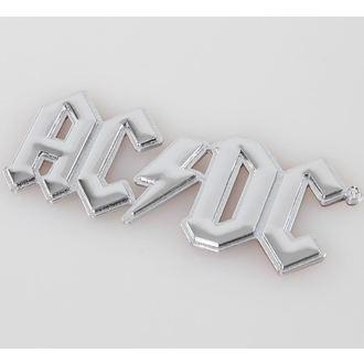 étiquette 3D AC / DC - Chromlogo, F.B.I., AC-DC