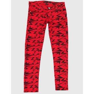 pantalon pour femmes CRIMINEL DOMMAGES - Rouge, NNM